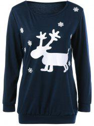 Deer Print Christmas Sweatshirt