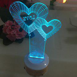 Wedding Party Sweet Love Heart Shape Colorful LED Night Light -