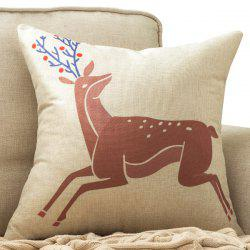 Soft Milu Deer Printed Car Cushion Home Decor Pillow Case