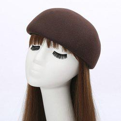 Winter Casual Half Melon Shape Felt Hat