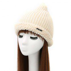 Winter Casual Label Double-Deck Crochet Thicken Knit Triangle Hat