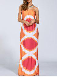 Aztec Strapless Maxi Dress -