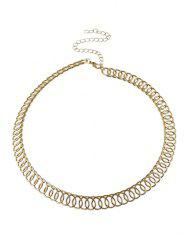 Alloy Circle Chain Choker Necklace -