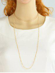 Alloy Circle Embellished Chain Choker - GOLDEN