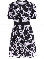 Hidden Zipped Hand Print Dress -