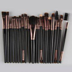 22 Pcs Nylon Eye Lip Makeup Brushes Set - BLACK