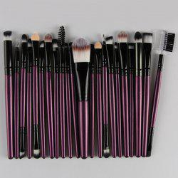22 Pcs Nylon Eye Lip pinceaux de maquillage Set - Pourpre