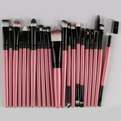 22 Pcs Nylon Eye Lip Makeup Brushes Set - PINK