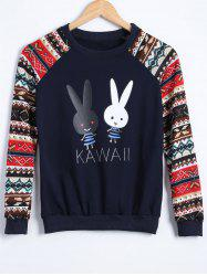 Rabbit Raglan Sleeve Sweatshirt