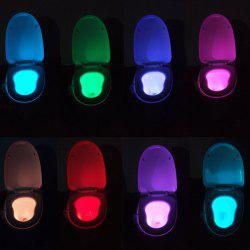 LED Body Induction Bathroom Toilet Eight Colors Change Small Night Light -