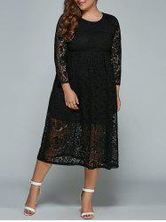 Midi Plus Size Lace Dress