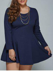 Long Sleeve Plus Size Short Skater Tunic Dress