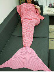 Fish Scale Design Sleeping Bag Wrap Mermaid Tail Blanket -