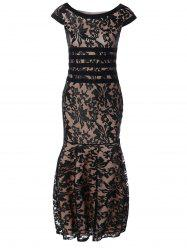 Tight Lace Fitted Maxi Prom Evening Dress -