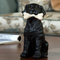 Simulation Resin Animal Labrador Dog Figurine Craft -