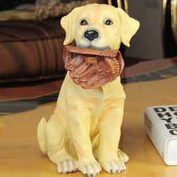 Artistic Resin Craft Labrador Dog Figurine Home Decoration -