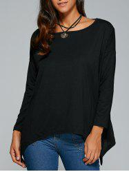 Long Sleeve Hankerchief Hem Top