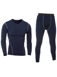 Quick-Dry Long Sleeve T-Shirt + Skinny Gym Pants Twinset -