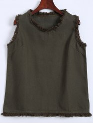 Raw Edge Thicken Tank Top -