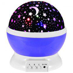 Mew Starry Sky Babysbreath Autorotation LED Night Light - PURPLE