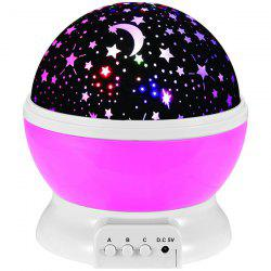 Mew Starry Sky Babysbreath Autorotation LED Night Light - PINK