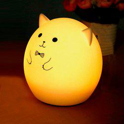 USB Colorful charge LED Cochon Cartoon Ombre Night Light - Blanc