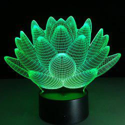 3D Christmas Lotus Flower Shape Touch Colorful Night Light - TRANSPARENT