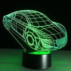 3D Christmas Small Car Shape Touch Colorful Night Light - TRANSPARENT