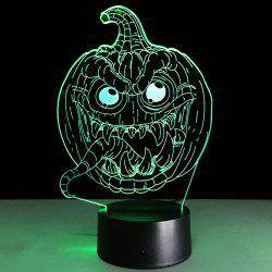 3D Halloween Funny Pumpkin Shape Touch Colorful Night Light -