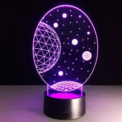 3D Christmas Galaxy Shape Touch Colorful Night Light
