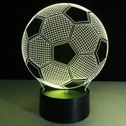 3D Christmas Football Shape Touch Colorful Night Light - TRANSPARENT