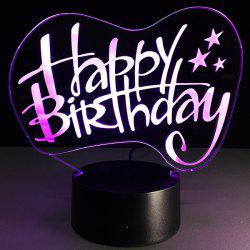 Happy Birthday Board Shape Touch Colorful Night Light