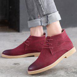 Lace Up Pointed Toe Casual Shoes