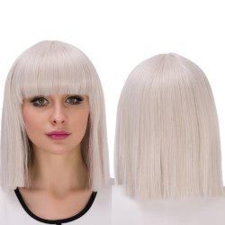 Synthetic Cosplay Prevailing Short Full Bang Bob Haircut Wig