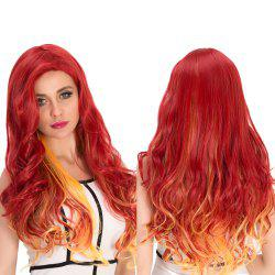 Gradient Color Long Wavy Cosplay Synthetic Wig
