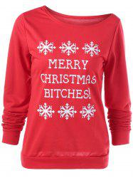 Merry Christmas Bitches Graphic Sweatshirt - RED