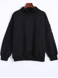 Turtle Neck Patch Sweatshirt