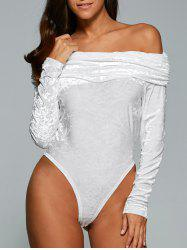 Long Sleeve Off The Shoulder Bodysuit