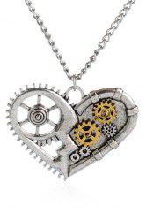 Gear Heart Necklace