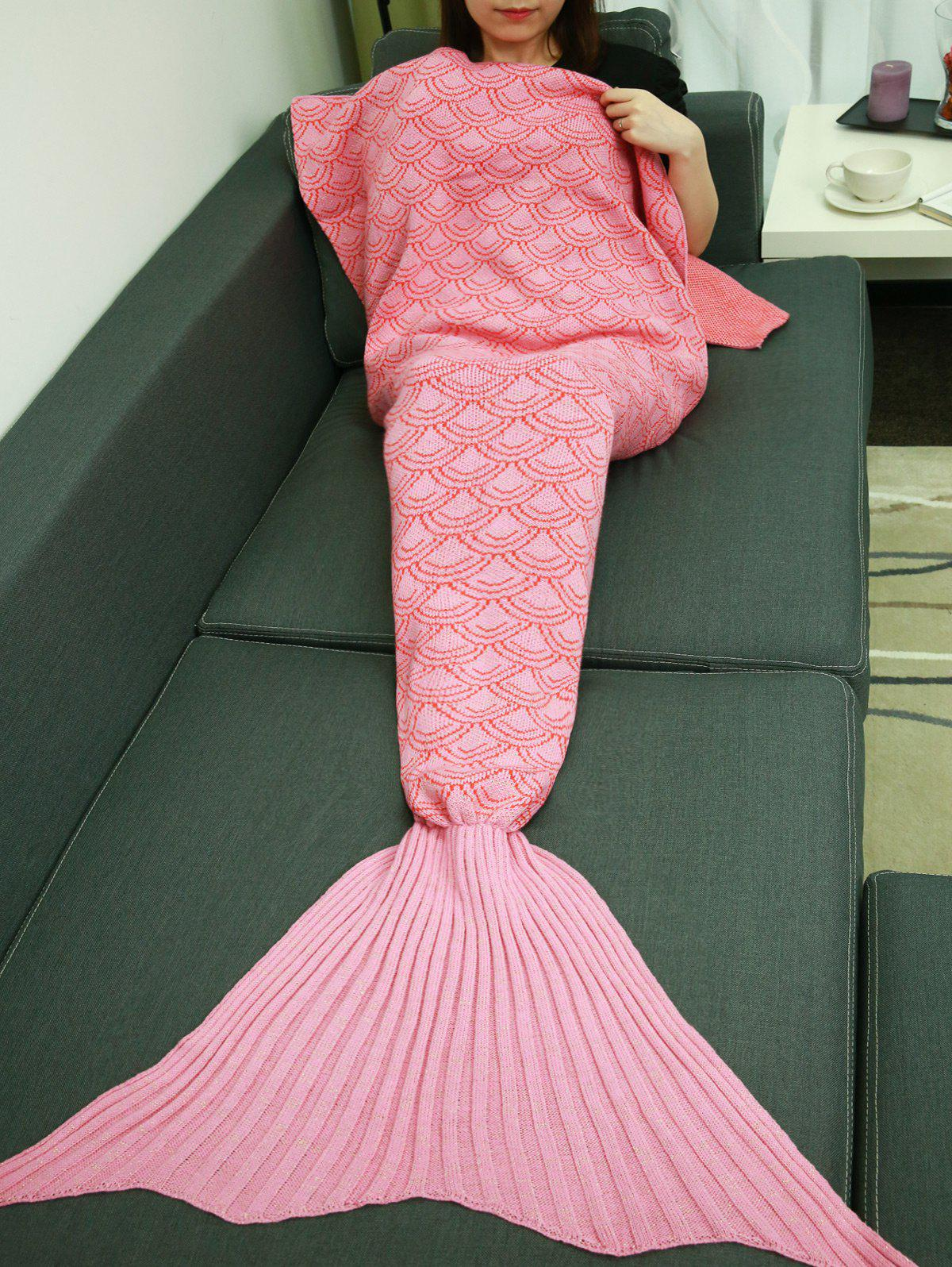 Trendy Fish Scale Design Sleeping Bag Wrap Mermaid Tail Blanket