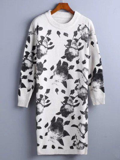 Fancy Chinese Painting Pattern Sweater Dress