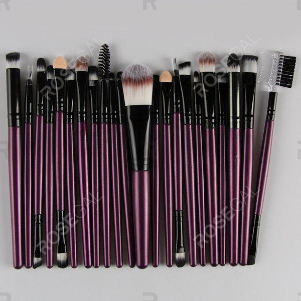 22 Pcs Nylon Eye Lip Makeup Brushes SetBEAUTY<br><br>Color: PURPLE; Category: Makeup Brushes Set; Brush Hair Material: Nylon; Features: Professional; Season: Fall,Spring,Summer,Winter; Weight: 0.150kg; Package Contents: 22 x Brushes (Pcs);