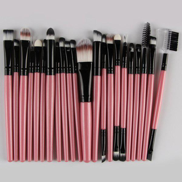 22 Pcs Nylon Eye Lip Makeup Brushes SetBEAUTY<br><br>Color: PINK; Category: Makeup Brushes Set; Brush Hair Material: Nylon; Features: Professional; Season: Fall,Spring,Summer,Winter; Weight: 0.150kg; Package Contents: 22 x Brushes (Pcs);