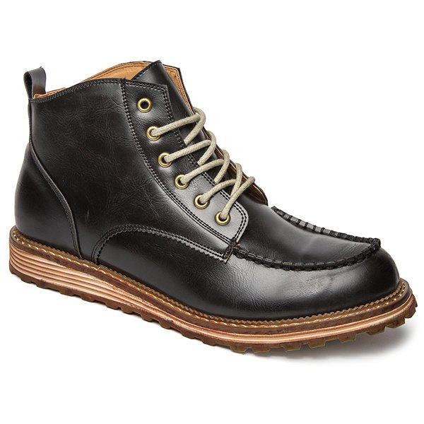 Cheap Round Toe High Top Boots