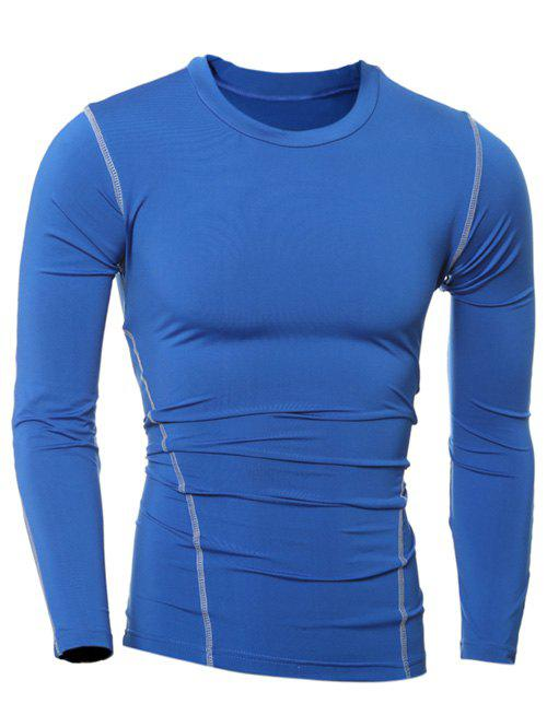 Shop Slim-Fit Quick-Dry Round Neck Long Sleeve T-Shirt
