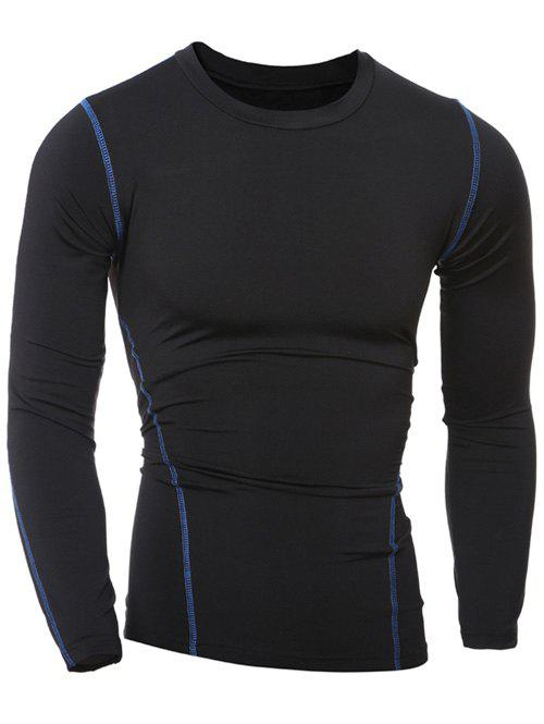 Online Slim-Fit Quick-Dry Round Neck Long Sleeve T-Shirt