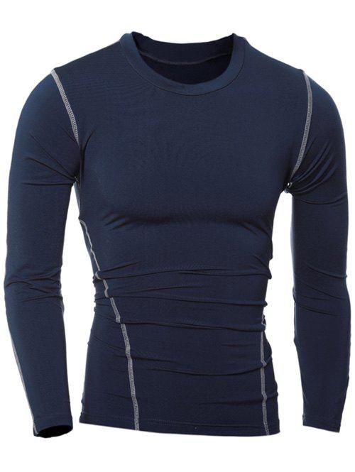 Slim-Fit Quick-Dry col rond T-shirt manches longues