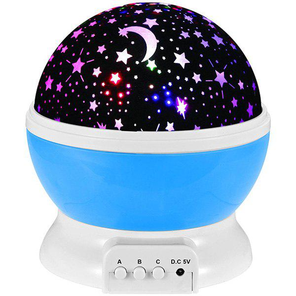 Mew Starry Sky Babysbreath Autorotation LED Night LightHOME<br><br>Color: BLUE; Style: Modern/Contemporary; Categories: Light; Material: Other,Plastic; Size(CM): 13*13*14; Weight: 0.765kg; Package Contents: 1 x Night Light;