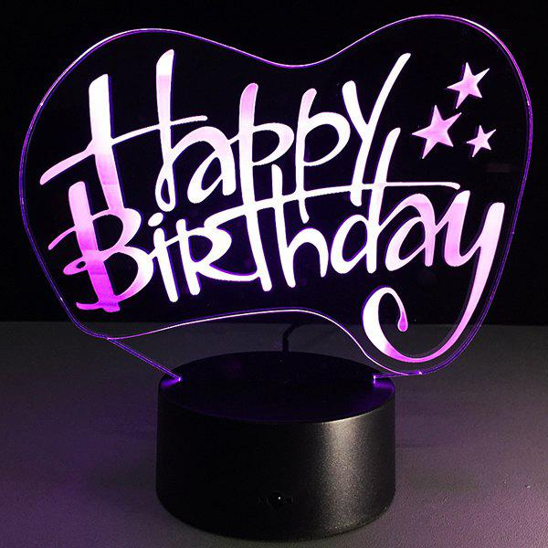 Sale Happy Birthday Board Shape Touch Colorful Night Light