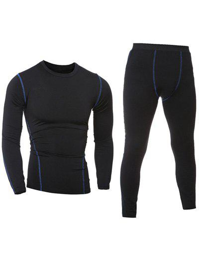 Cheap Quick-Dry Long Sleeve T-Shirt + Skinny Gym Pants Twinset